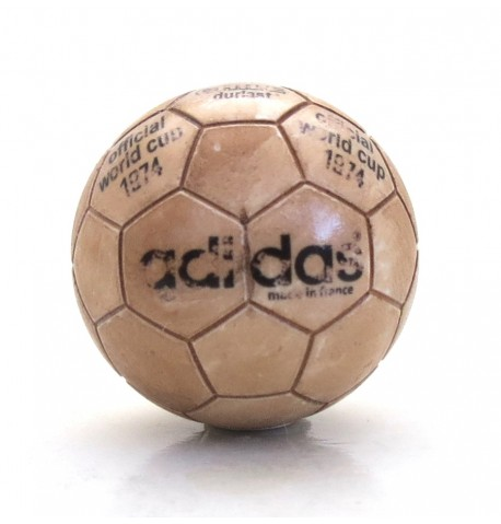 Pallina con decals BIANCA Chile Durlast World Cup 1974 effetto USURA
